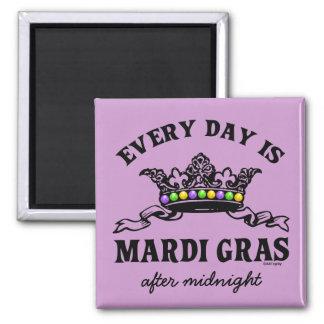 Customizable Mardi Gras 2 Inch Square Magnet