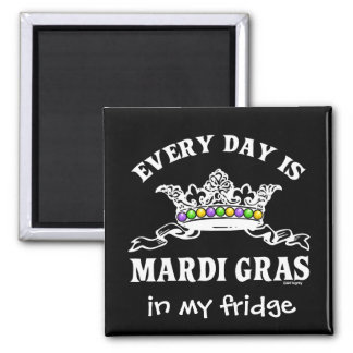 Customizable Mardi Gras Magnet