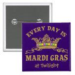 Customizable Mardi Gras Pins