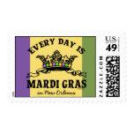 Customizable Mardi Gras Postage Stamp