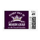 Customizable Mardi Gras Postage Stamps