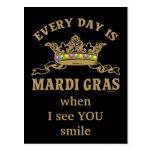Customizable Mardi Gras Postcard