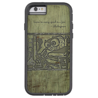 Customizable Maria_Kuhnert Owl Bookplate Tough Xtreme iPhone 6 Case
