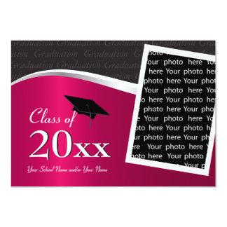 Customizable Maroo and Black Graduation Invitation