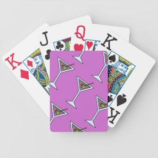 Customizable MARTINI ART PLAYING CARDS