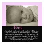 "CUSTOMIZABLE - ""Mary"" Personalized Invitation"