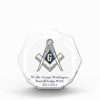 Customizable Masonic Award