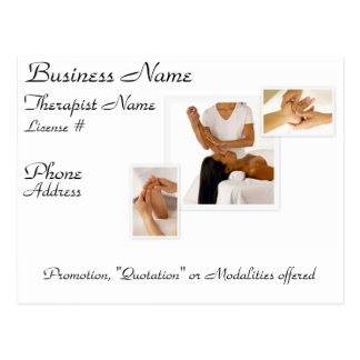 Customizable Massage/BodyWork Postcard (white)
