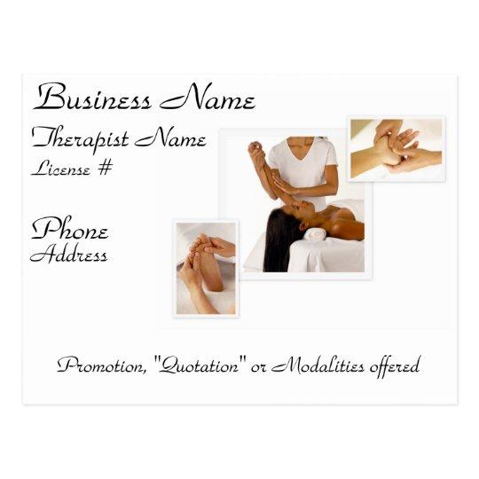 Customizable Massage/BodyWork Postcard (white)