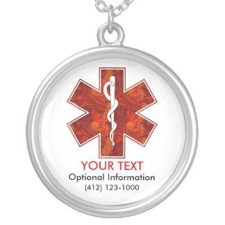 Customizable Medical Alert ID Necklace