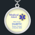 "Customizable Medical Alert Necklace<br><div class=""desc"">Medical alert necklace! If you&#39;re diabetic, have allergies, suffer from asthma or have any other ailment that paramedics should know about, then you ought to wear a medical alert necklace at all times. Customize this one with four or even more lines of text. To change the text, just type into...</div>"