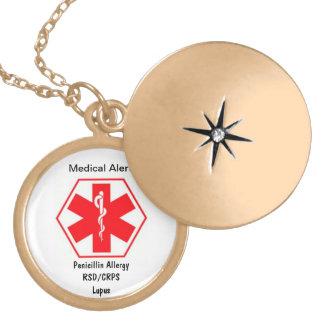 Customizable Medical alert necklace