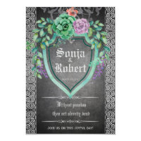 Customizable Medieval Celtic Floral invitation