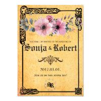 Customizable Medieval Celtic Floral invitation