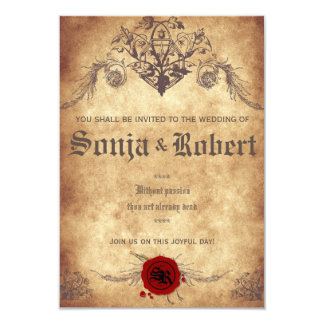 Customizable Medieval Fantasy wedding invitation