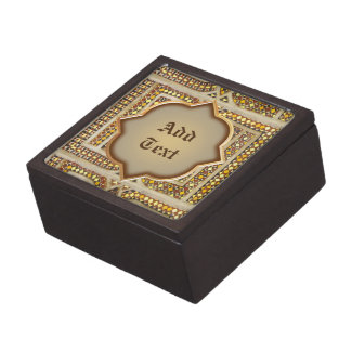 Customizable Medieval Pattern Keepsake Box