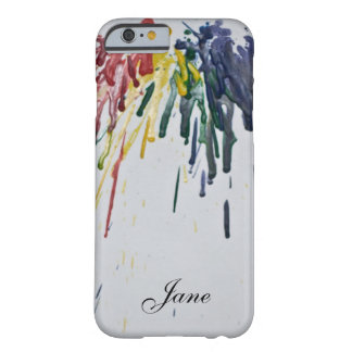 Customizable Melted Crayons Barely There iPhone 6 Case