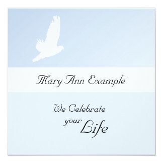 Customizable Memorial / Wake / Living Funeral Card