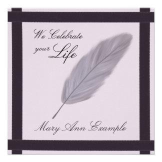 Customizable Memorial / Wake / Living Funeral Personalized Invite