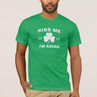 Customizable Men's Kiss Me I'm Asian Shamrock T-Shirt