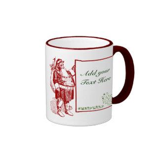 Customizable Merry Christmas Ringer Coffee Mug