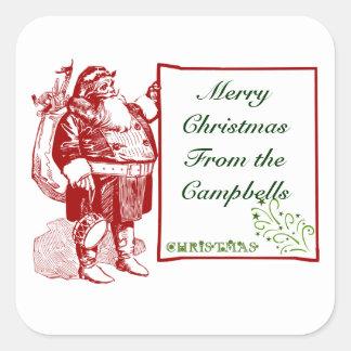 Customizable Merry Christmas Square Sticker