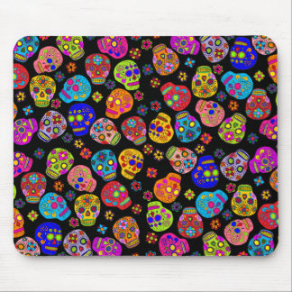Customizable  Mexican Folk Art Sugar Skulls Mouse Pad