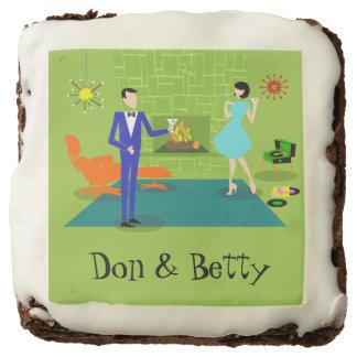 Customizable Mid Century Modern Couple Brownies