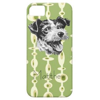 Customizable Mid-Century Modern Dog iPhone 5 Case