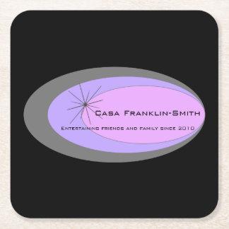 Customizable Mid-century Modern Square Paper Coaster