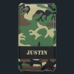 "Customizable Military Camo iPod Touch Case<br><div class=""desc"">Customizable Military Camouflage Case-Mate Barely There™ iPod Touch Case.