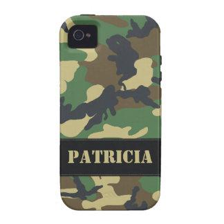 Customizable Military Camo Tough iPhone 4 Case
