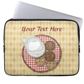 Customizable Milk and Cookies Laptop Sleeve