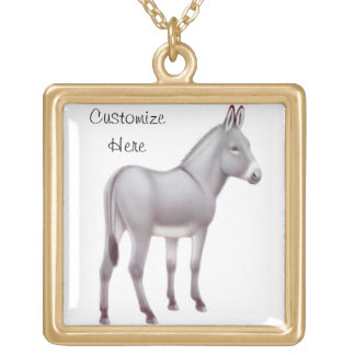 Customizable Miniature Sicilian Donkey Necklace