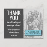 "[ Thumbnail: Customizable & Minimal ""Thank You"" Postcard ]"