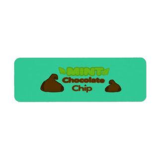 Customizable MINT Chocolate Chip Bakery Labels