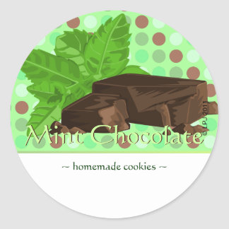 Customizable Mint Chocolate Stickers