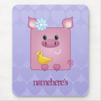 Customizable: Miss Piggy Mouse Pad