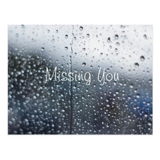Customizable Missing You Rain Postcards