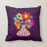 Customizable Mod Floral Pillow