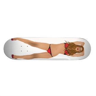 Customizable Model in Bikini Skateboard