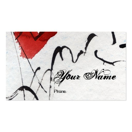 Customizable modern artsy business card by ginette zazzle for Artsy business cards