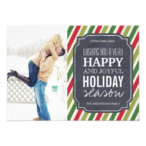 Customizable Modern Stripes Christmas Photo Cards