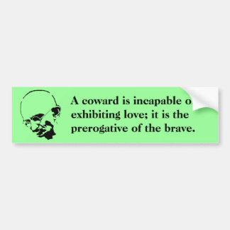 Customizable Mohandas Gandhi Quote Car Bumper Sticker