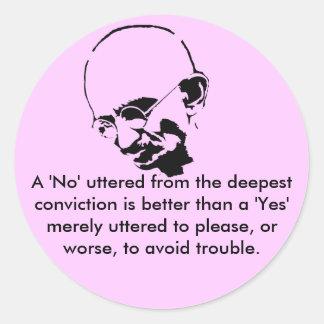 Customizable Mohandas Gandhi Quote Classic Round Sticker