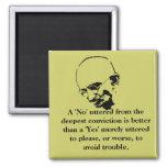 Customizable Mohandas Gandhi Quote Fridge Magnets