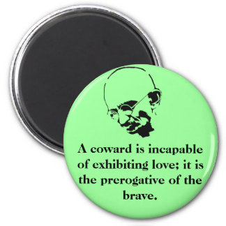 Customizable Mohandas Gandhi Quote Magnet