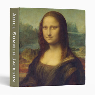 Customizable Mona Lisa By Leonardo Da Vinci 3 Ring Binder