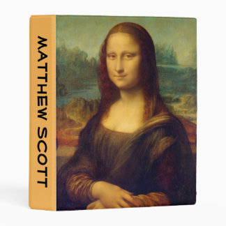 Customizable Mona Lisa By Leonardo Da Vinci Mini Binder