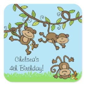 Customizable Monkey Around Stickers